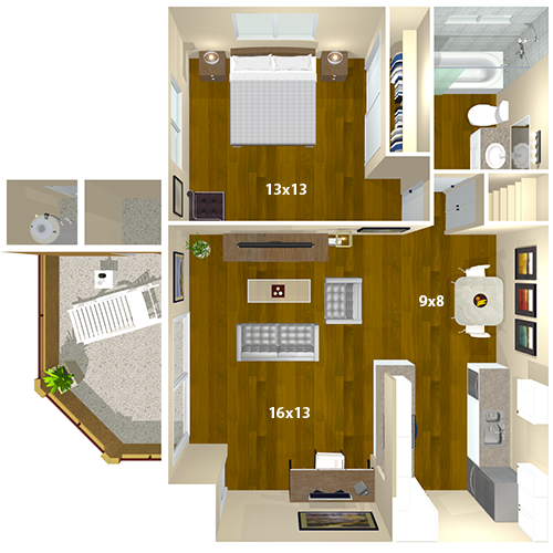Hidden Cove Apartments | Escondido, CA | Floor Plans